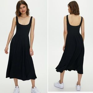 Wilfred Fit and Flare Midi Dress